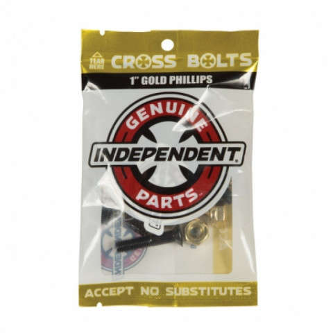 "Винты для скейта Independent Phillips Hardware 1"" Black/Gold"